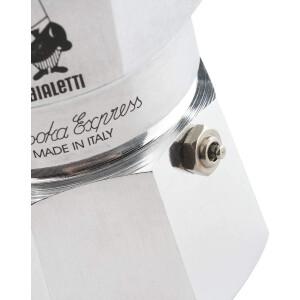 Bialetti 0001164/OC Moka Express 4 Tassen Espressokocher - Silber