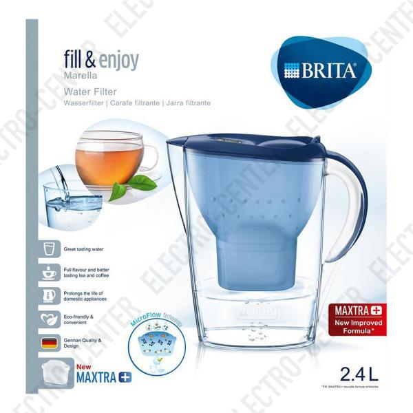 Brita Marella Wasserfilter blau 2,4 Liter mit Maxtra Kartousche